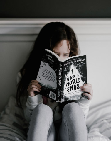 Image of child and book
