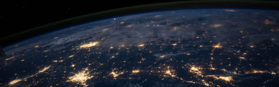 Image of the earth from space at night
