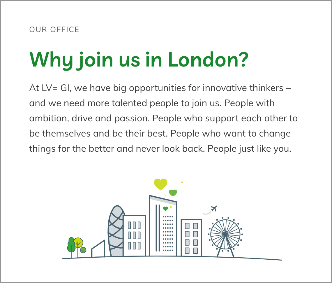 Image of website with title 'Why join us in London'