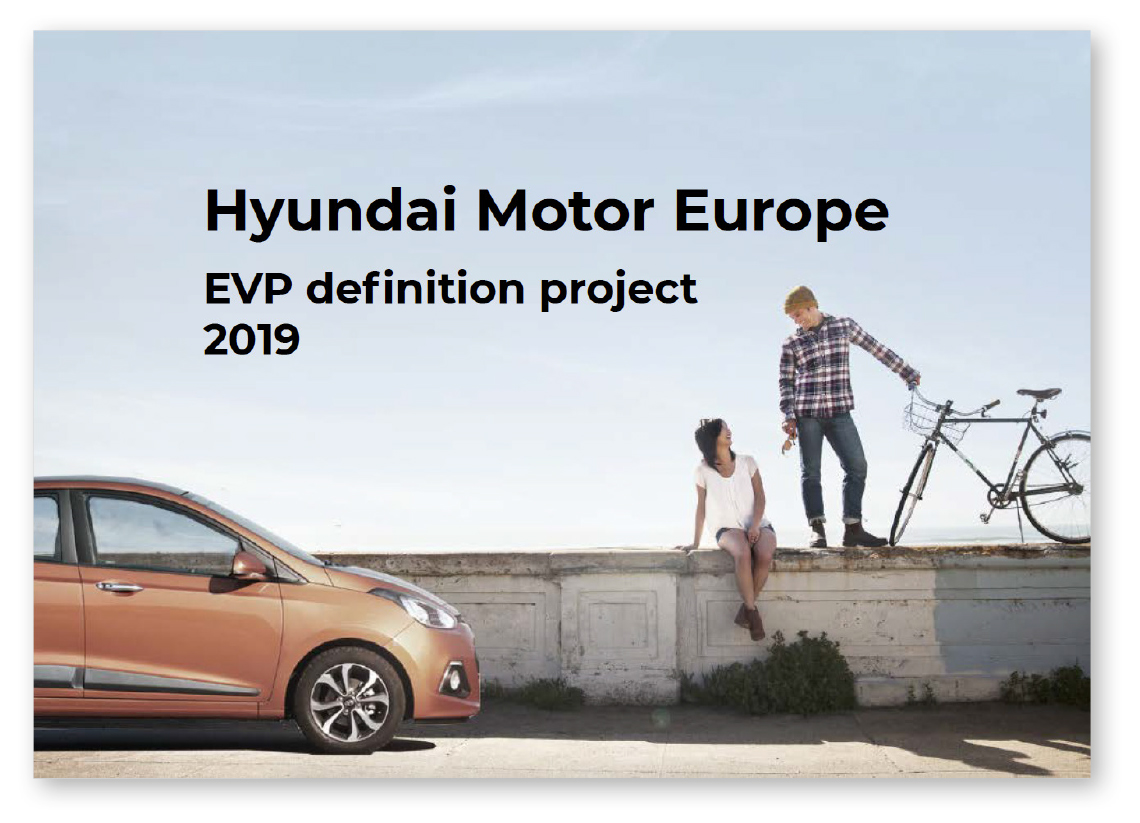 Image of the front cover of the Hyundai EVP document
