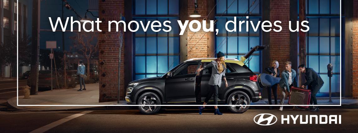 Visual representation of the Hyundai EVP 'What moves you' drives us'