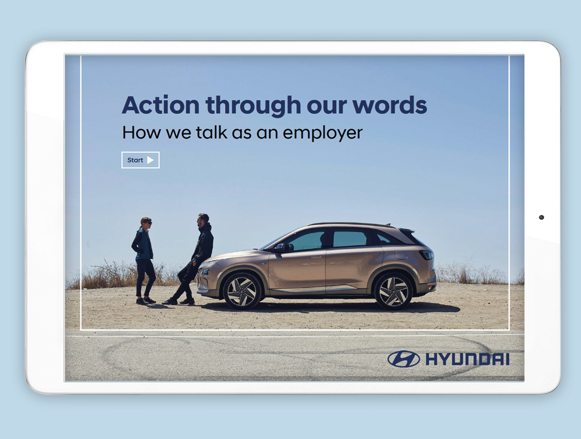 Image of Tone of Voice writing guide for Hyundai